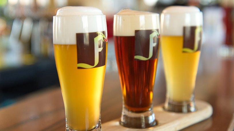 Freihof Biere mit Bierbrettl