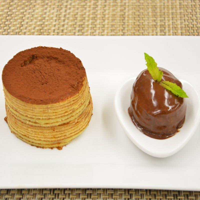 Duo von der Schokolade