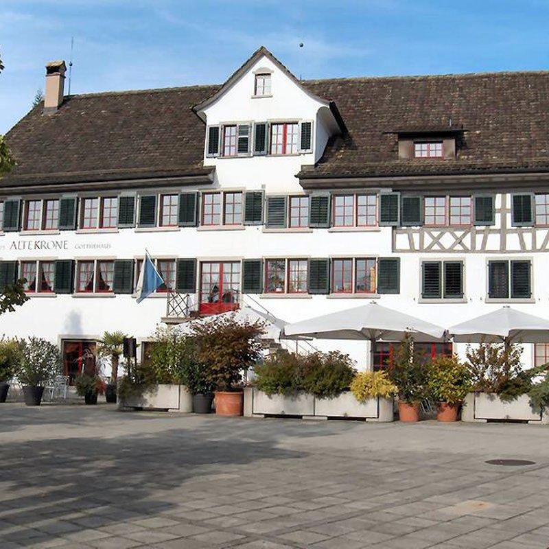 Blick vom Gemeindehausplatz