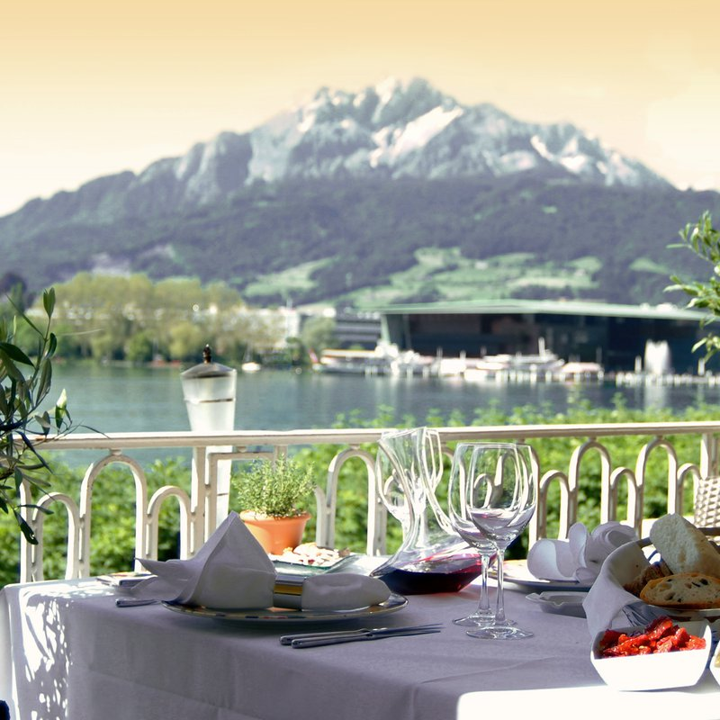Aussicht Restaurant Olivo Terrasse