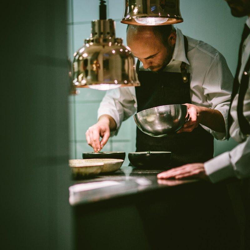 La Bottega Trattoria _ Küchenchef Francesco bei der Arbeit
