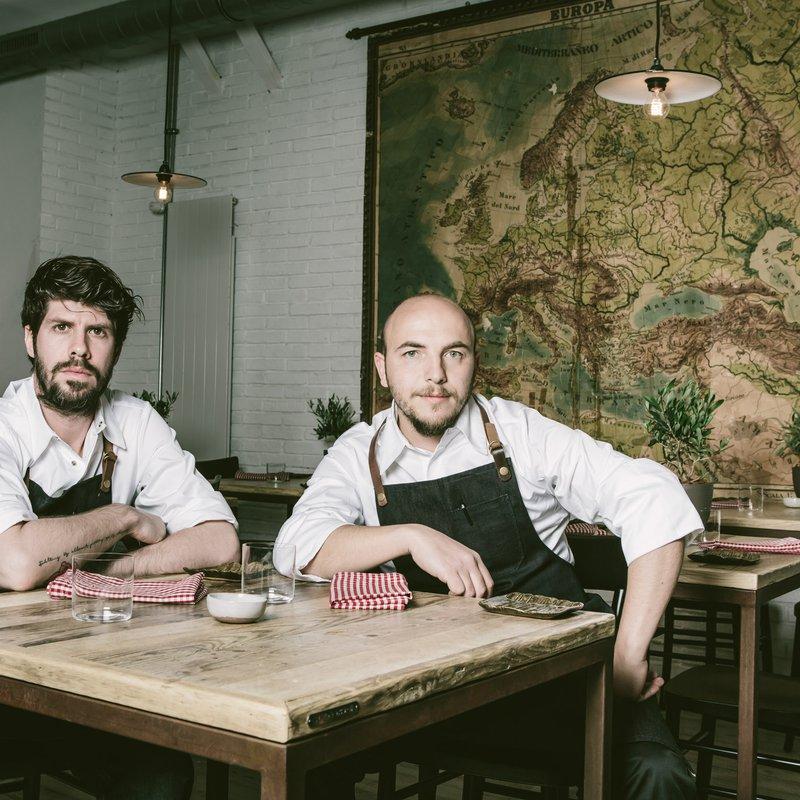 La Bottega Trattoria _ Küchenchefs Paulo Airaudo (links) und Francesco Gasbarro