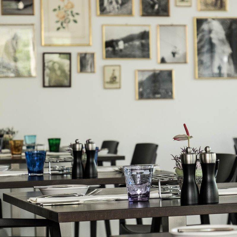 Die Innenausstattung des Restaurants