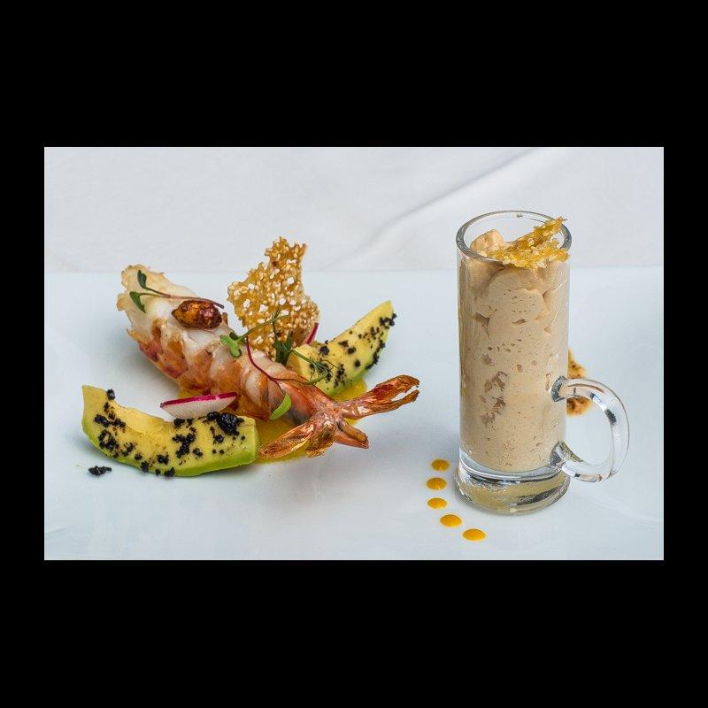 Riesenkrevette/Erdnuss/Avocado