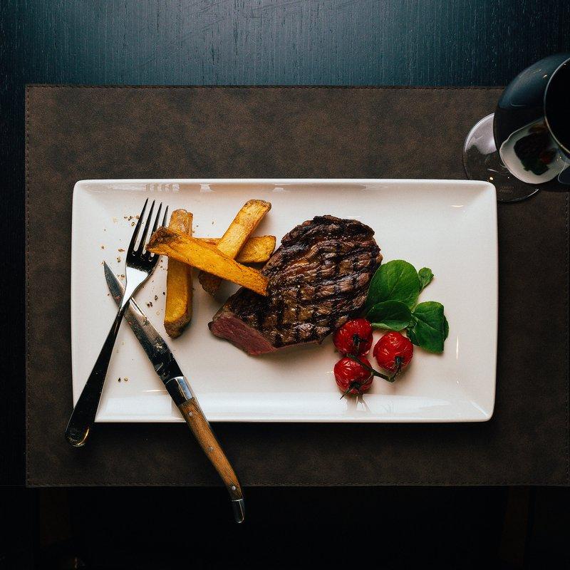 Steak mit Fries
