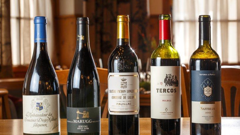 Auswahl erlesener Weine der Vinothek