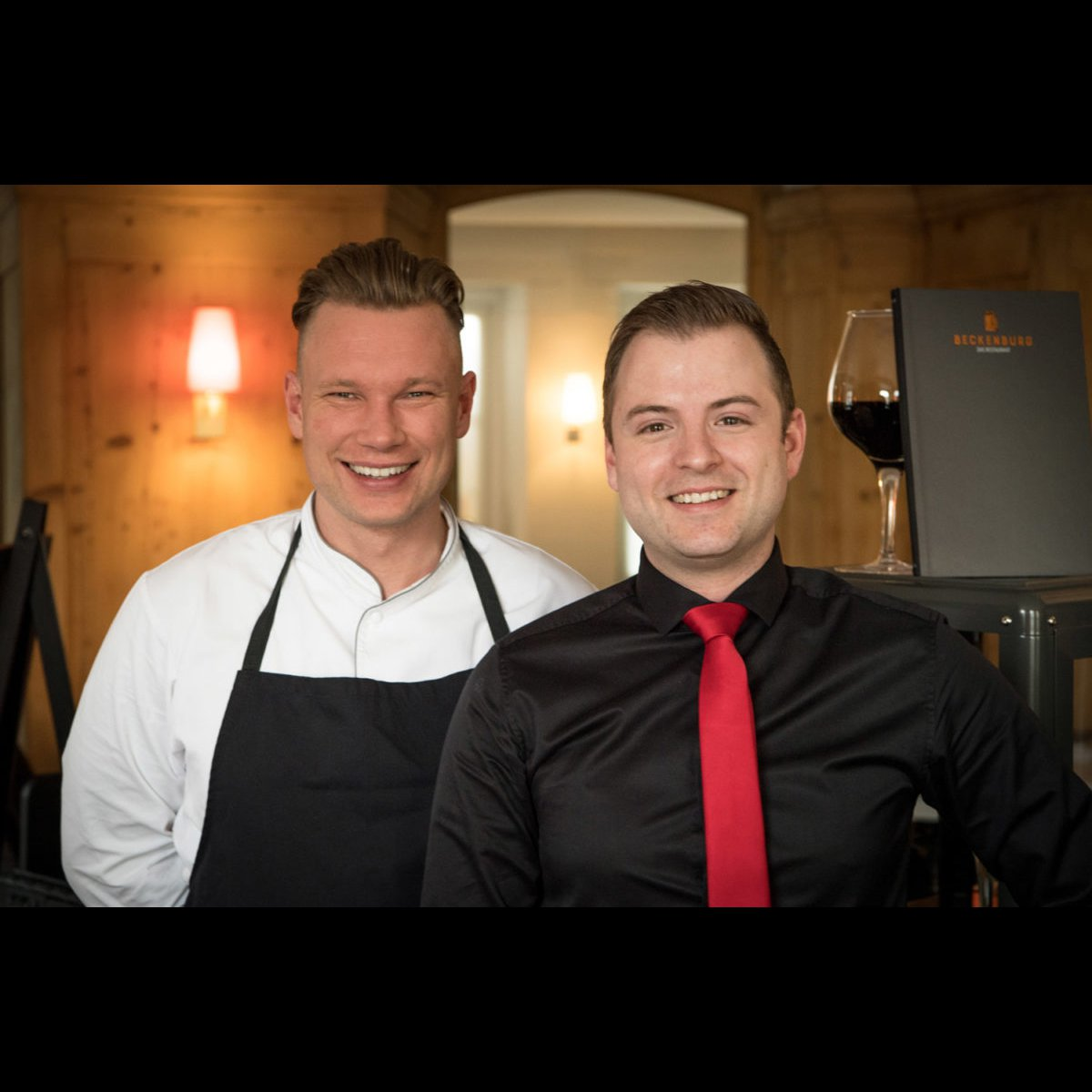 Gastgeber Claudio Natale (rechts) und Küchenchef Marc Köhler