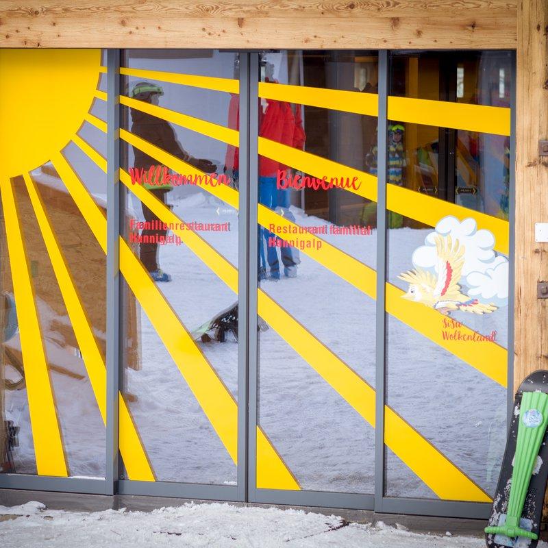 Bergrestaurant Hannigalp Haupteingang