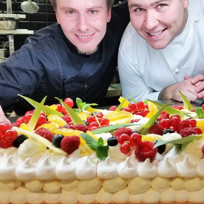 Gâteau maison aux fruits exotiques & gingembre