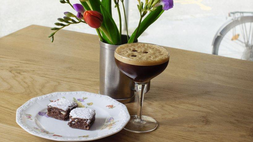 Mini Schokoladen Kuche mit Espresso Martini