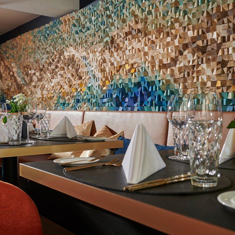 Restaurant Glacier Kunstwerk von Kasia Mc Art
