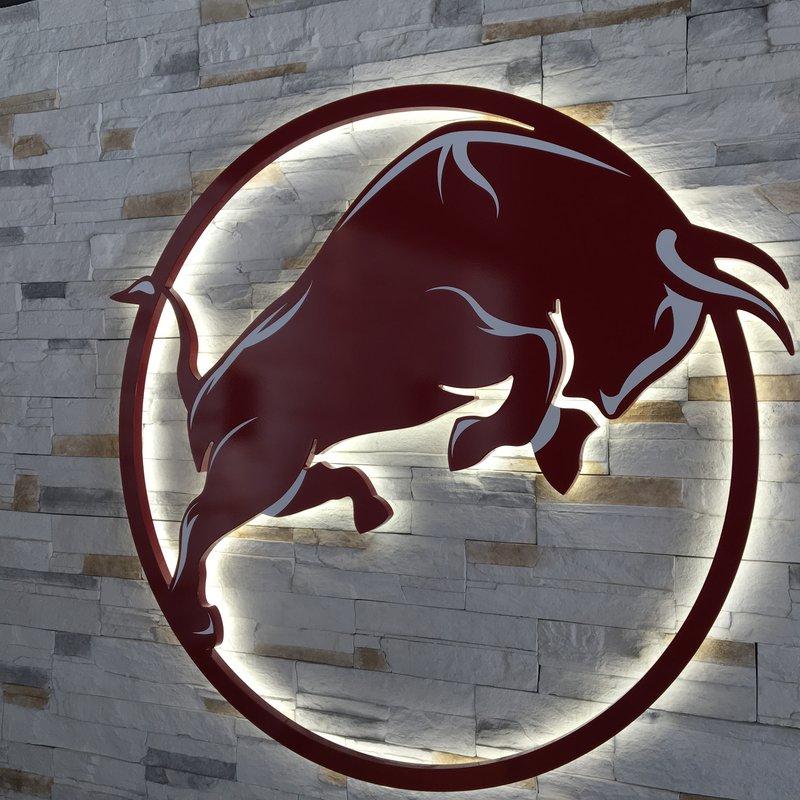 Logo an der Wand