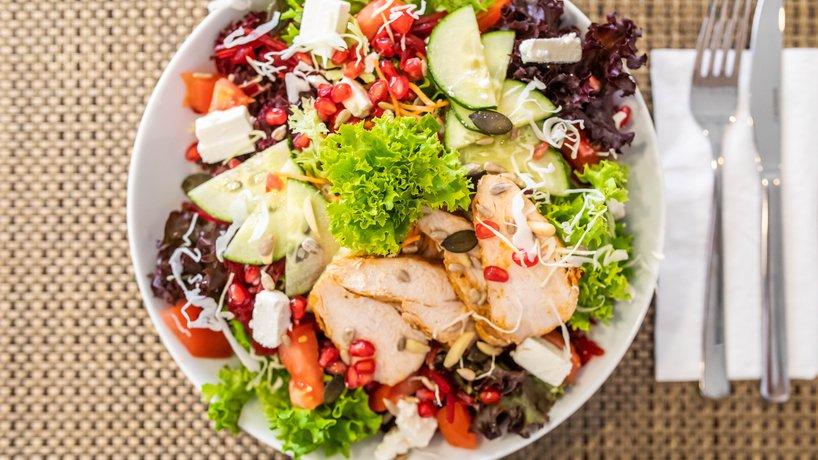 Glücklich Salat