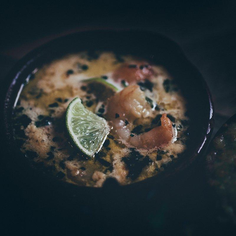 Gambas Gingembre agrume avec son Quinoa