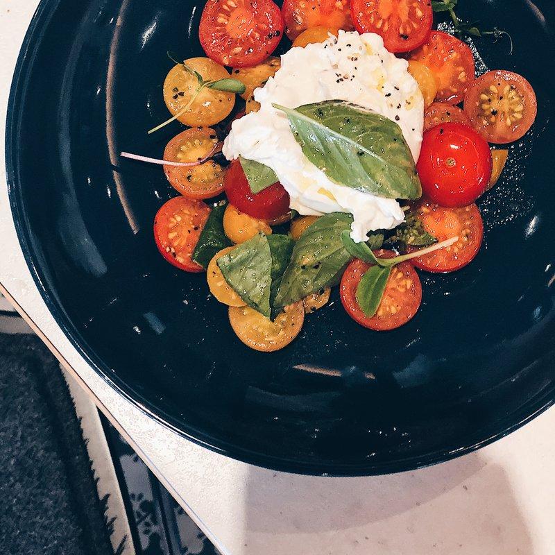 Warmer Tomatensalat