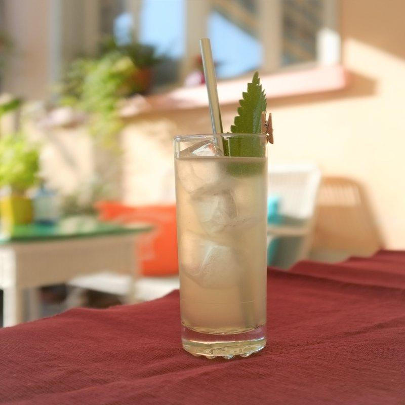 Garten mit Drink