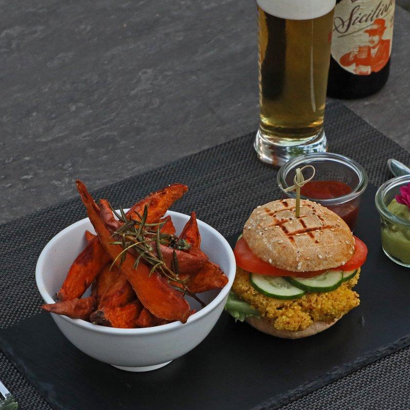 Ein Renner: der vegane Hamburger