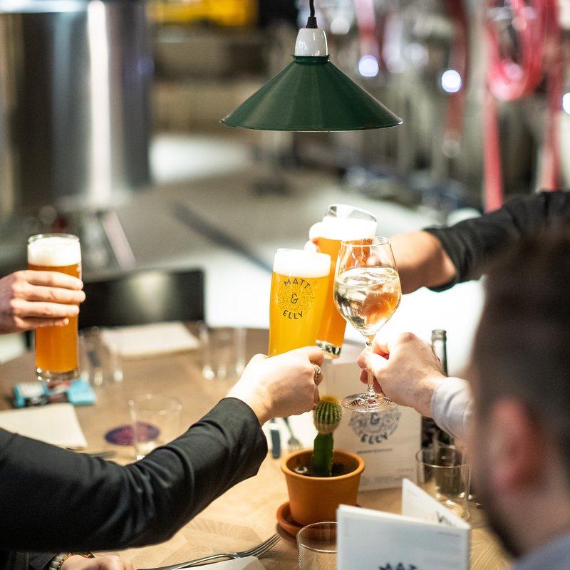 In-house gebrautes Bier
