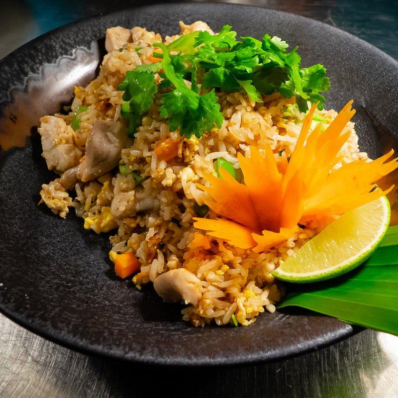 Gebratener Reis mit Poulet