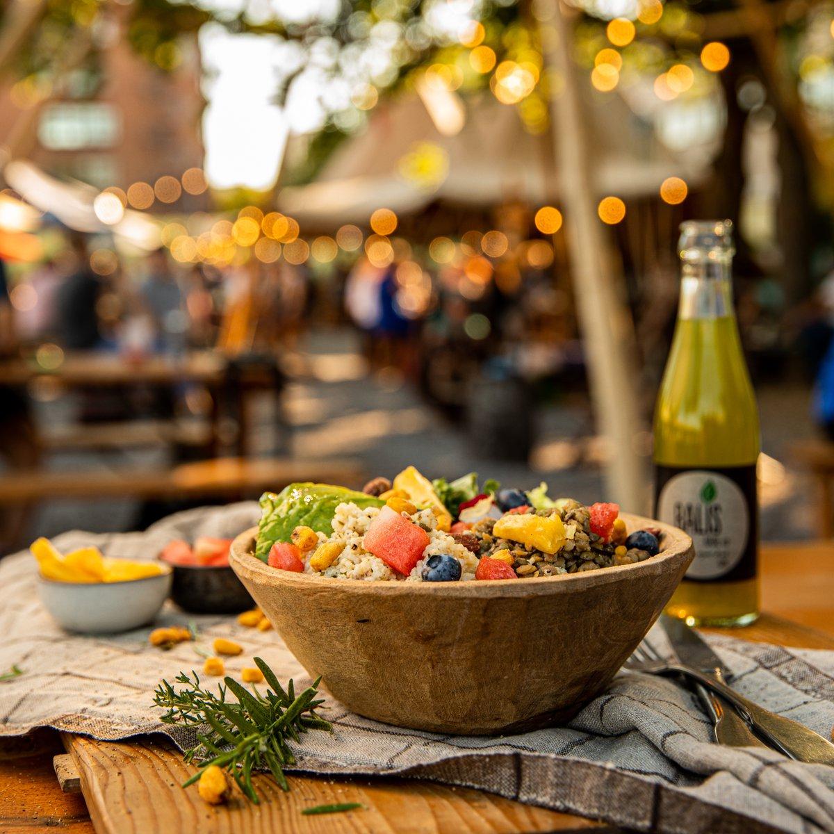 """""""Zum Frischen Max""""-Salat und Basilikum Ingwer Limonade"""