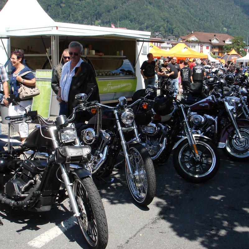 Mitten drin im Harley Treffen