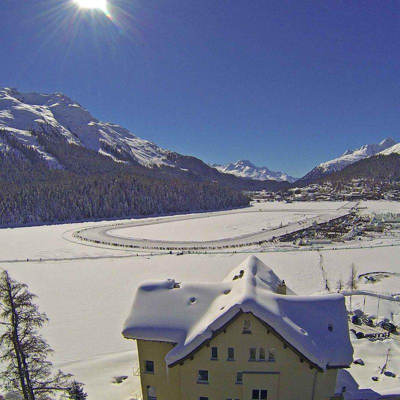Aussicht im Winter (Drohne)