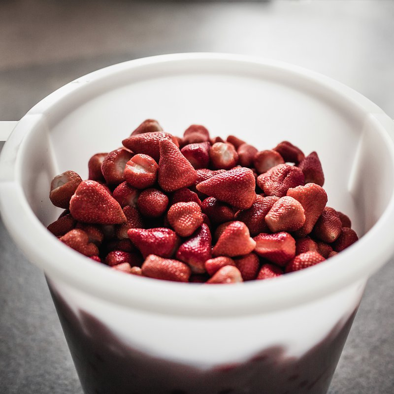 Erdbeeren Produktion