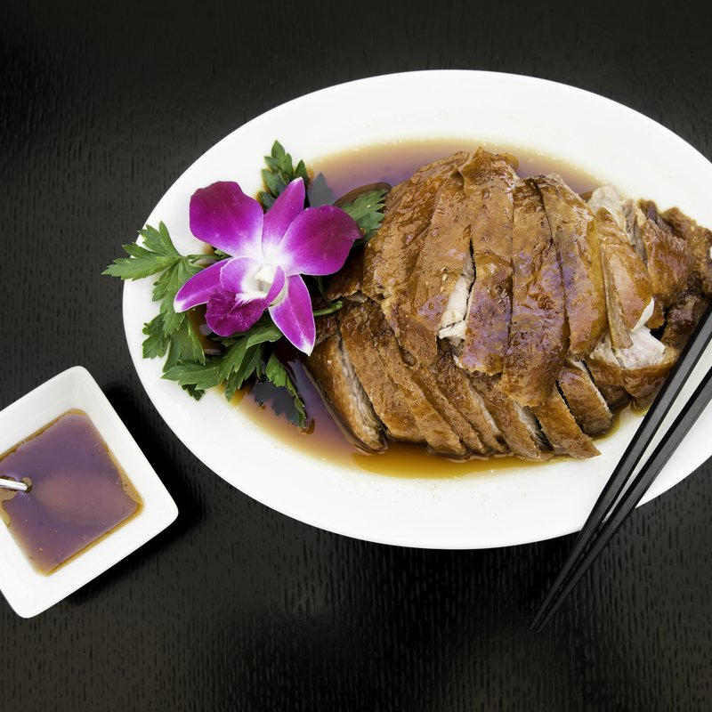 Ente gebraten im Golden Dragon China Restaurant.