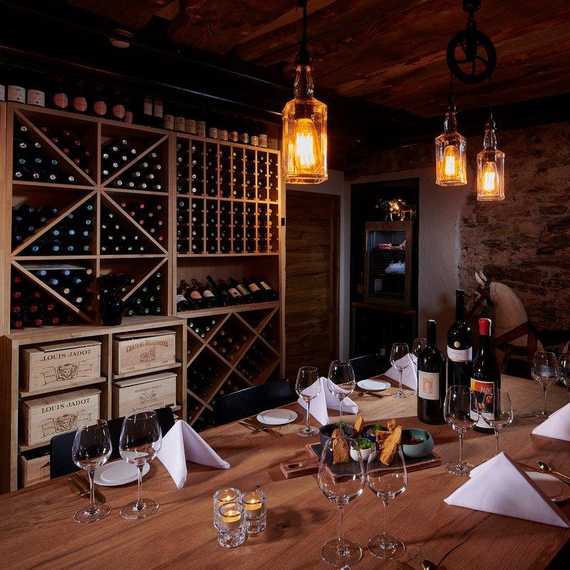 Chef's Table von Jonas Messer im Weinkeller