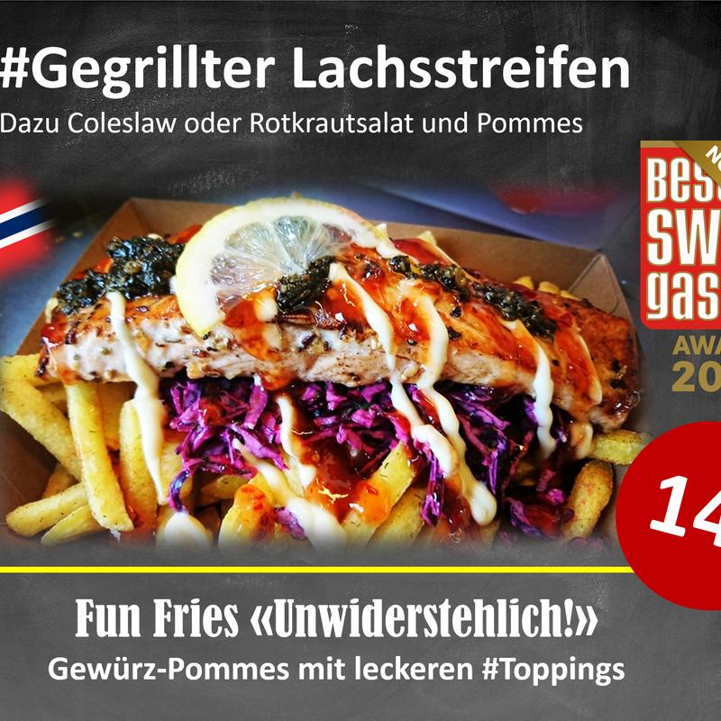 Lachsstreifen Fun Fries