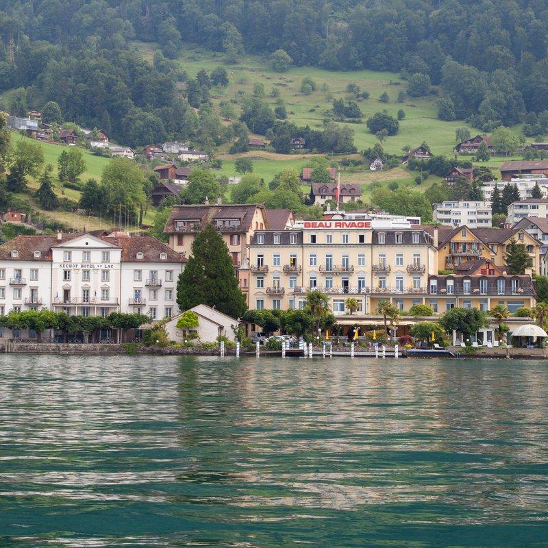 Hotel Beau Rivage, direkt am Vierwaldstättersee