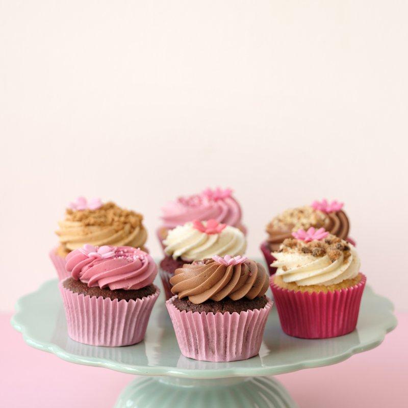 Mite Liebe gemachte Cupcakes