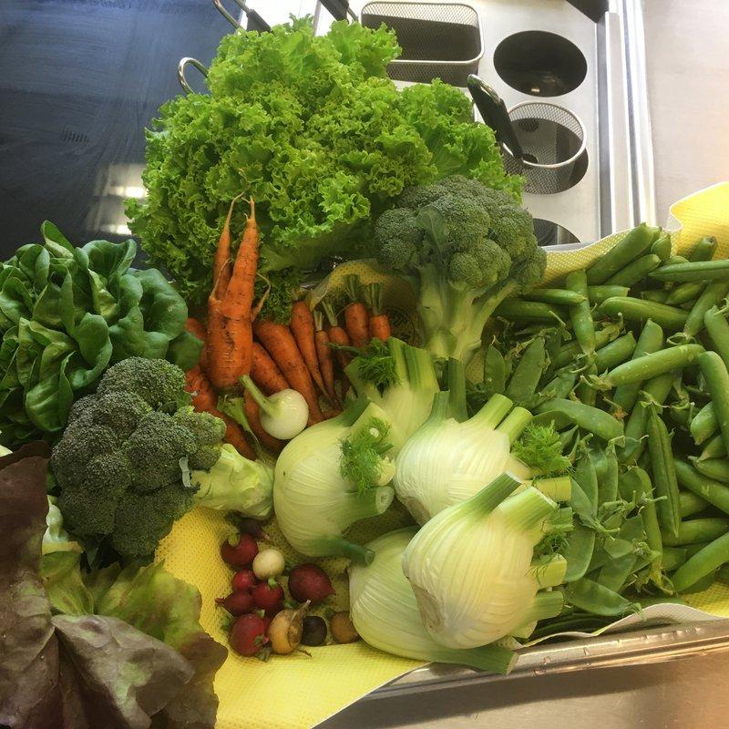 Frisches Gemüse vom Khurer Wochenmarkt