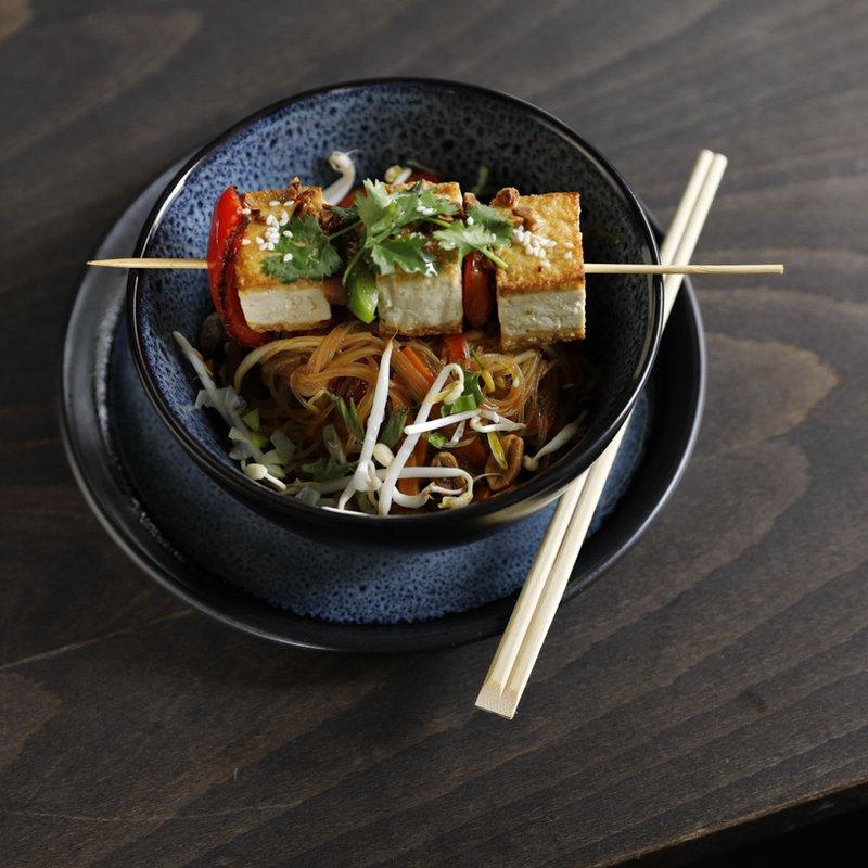 Glasnudelsalat mit Tofu