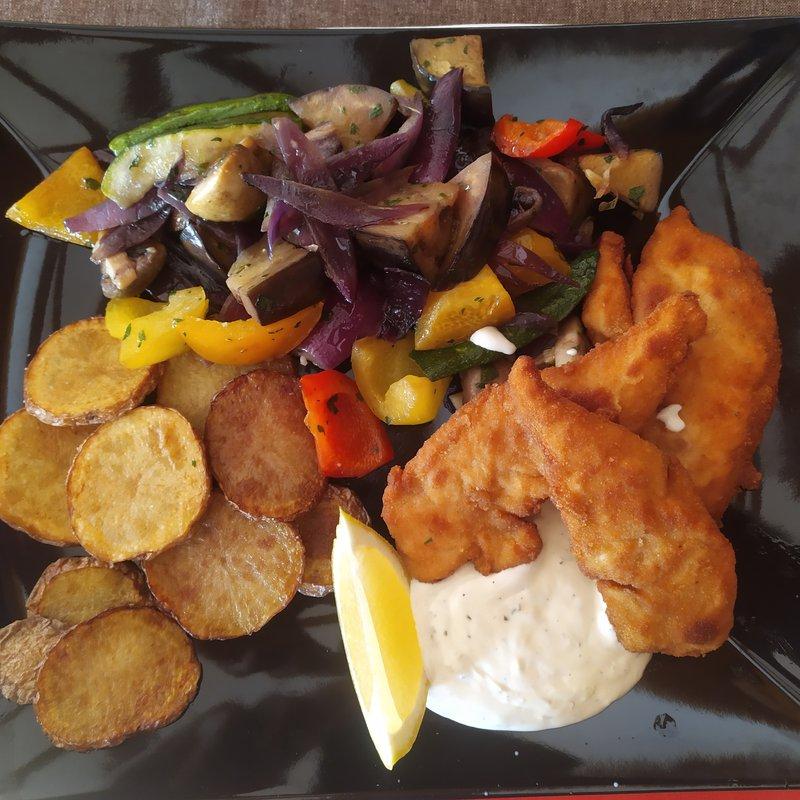 Chicken Nugget Hausgemacht mit Gemüse
