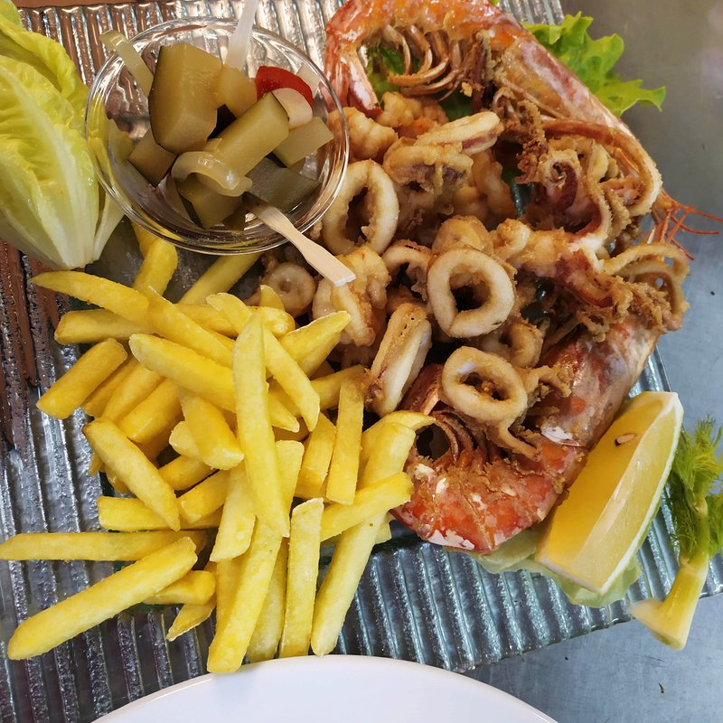 Fritto Calamari e Gamberi