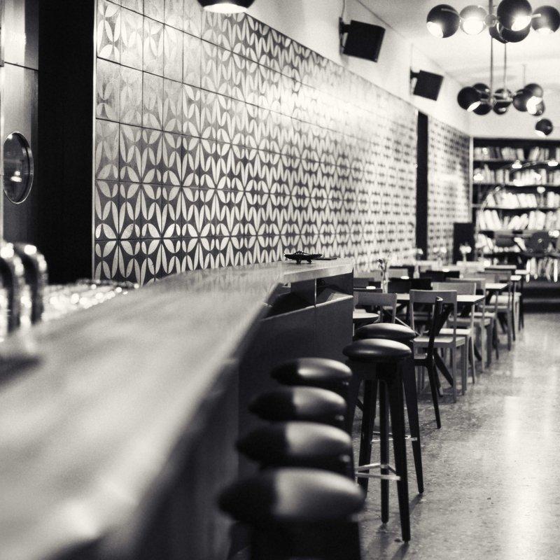 Salon Blick aufs Restaurant
