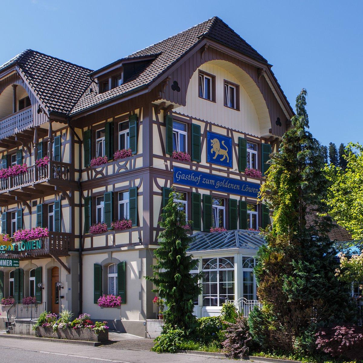 Der Gasthof zum goldenen Löwen im schönen Langnau, nahe Bern, unweit von Burgdorf, Trubschachen und Lauperswil gelegen, ist bekannt für seine ausgezeichnete Küche, die sympathische
