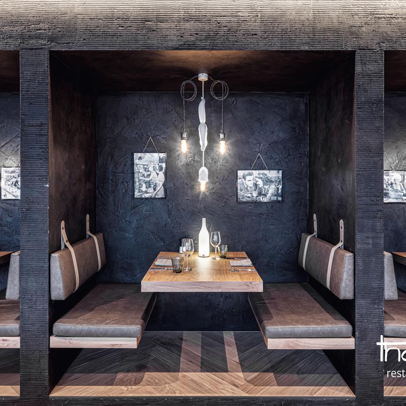 Sitznischen für zwei im Restaurant