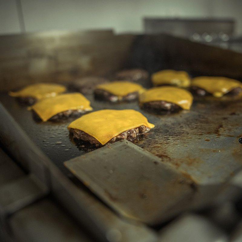 Patties on grill
