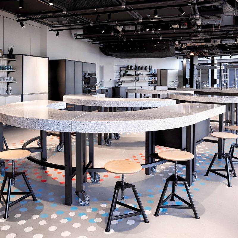 Integrierte Eventlocation. Im Foodlab finden Workshops etc. statt.