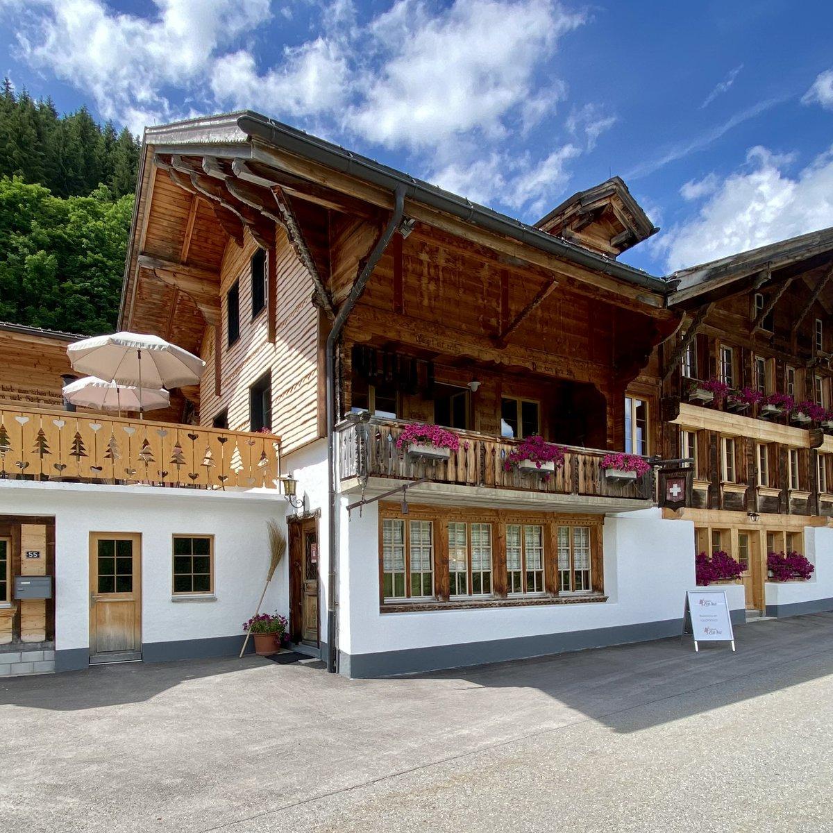 Unser Berghotel von aussen.