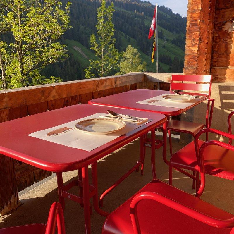 """Abländschen Frühstück auf der """"roten Terrasse""""..."""