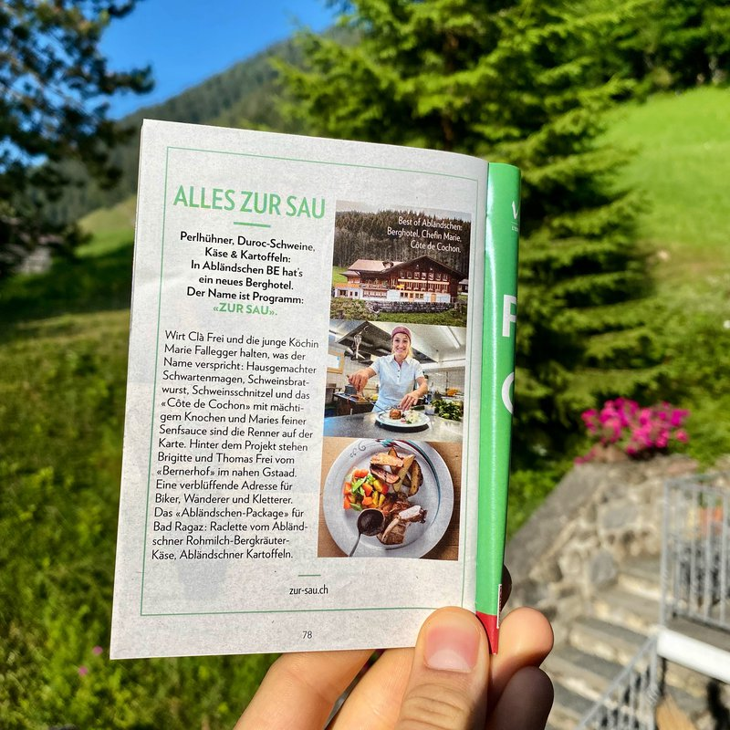 Wir werden an der GM-Garden Party 2021 Raclette vom Abländschner Rohmlich-Bergkräuterkäse servieren.