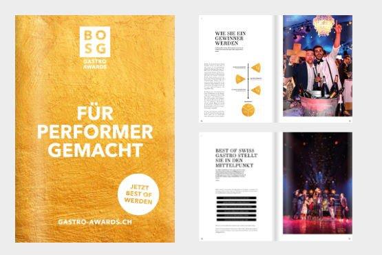 """Gastrobroschüre Best of Swiss Gastro """"Gastro Awards"""" 2020"""