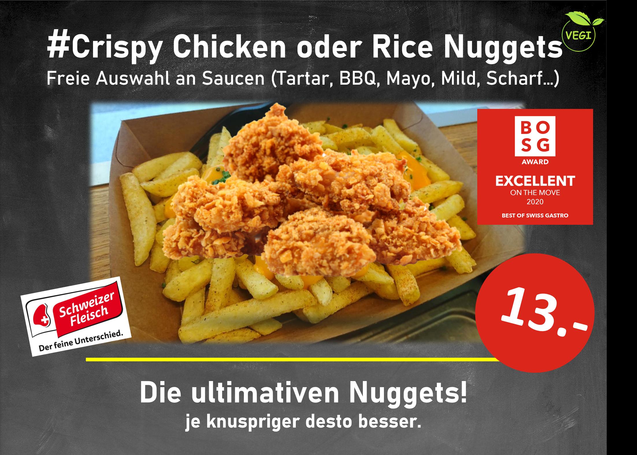 #Crispy Chicken oder Rice Nuggets