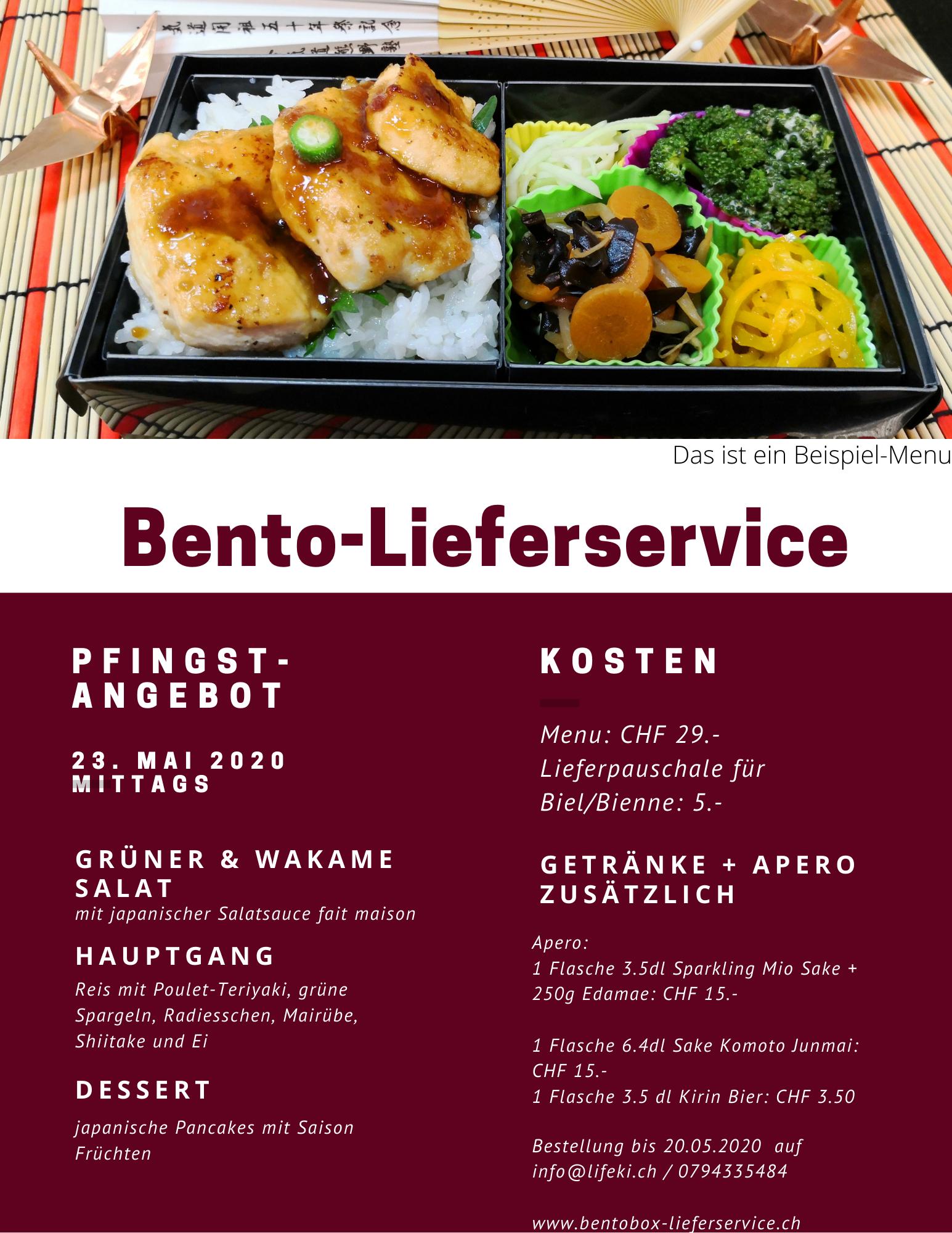 Bento-Menu für Pfingst-Sonntag 2021