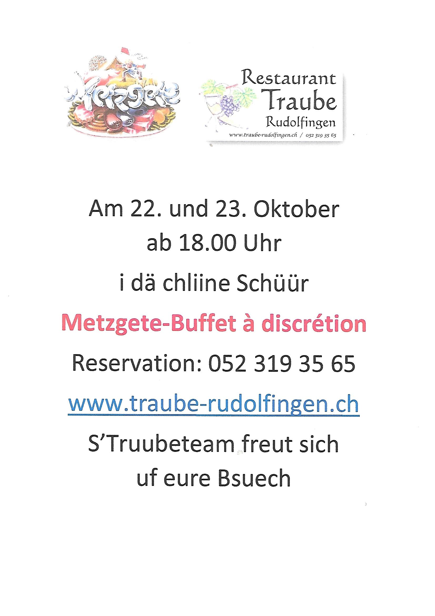 Metzgete Buffet 22. und 23. Oktober 2021